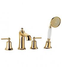 Maišytuvas montuojamas į vonios kraštą Omnires Armance (auksas)