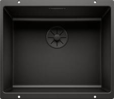 Silgranit PuraDur montuojama po stalvišiu plautuvė Blanco Subline 500-U Black Edition