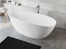 Laisvai pastatoma akmens masės vonia Blu AURIGA 1560 Evermite