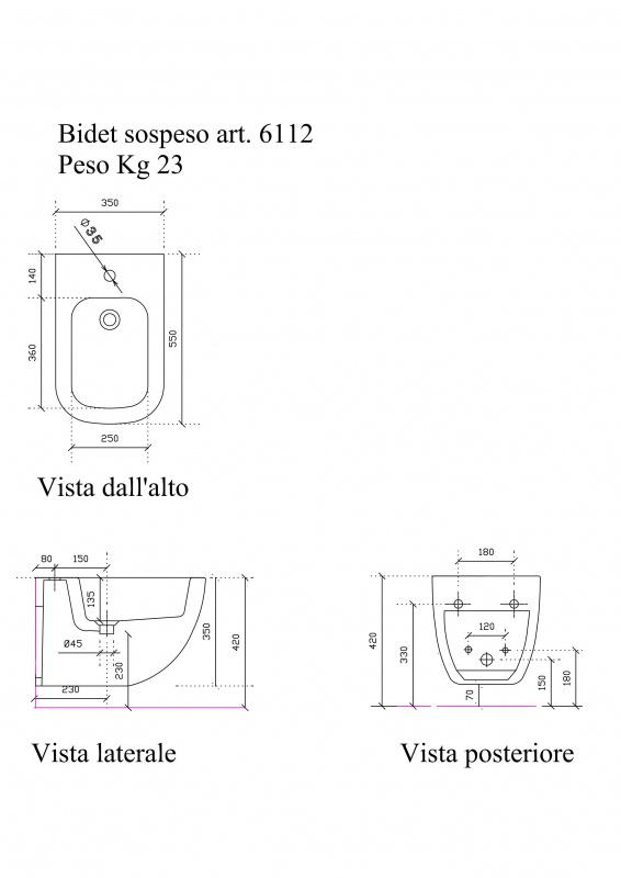 Bide pakabinamas Plus Design, Galassia