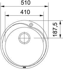 Nerūdijančio plieno plautuvė Franke ROX 610-41