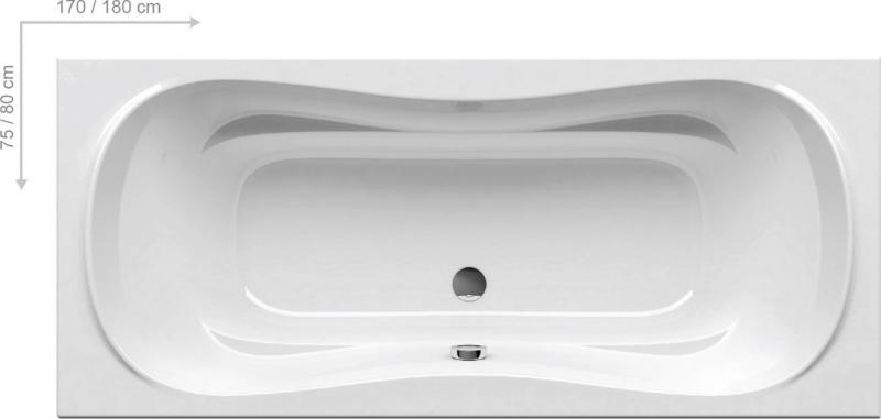 Stačiakampė akrilinė vonia Ravak Campanula II