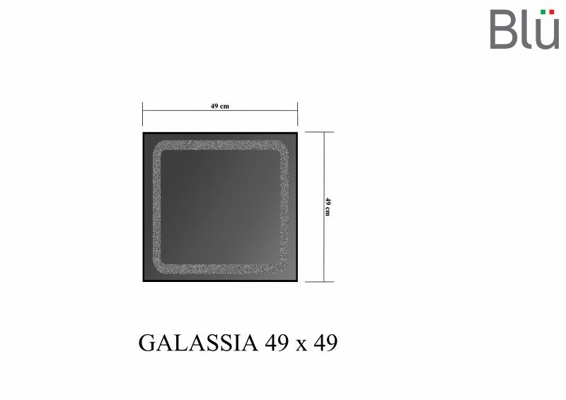 Veidrodis Blu GALASSIA su LED apšvietimu 490