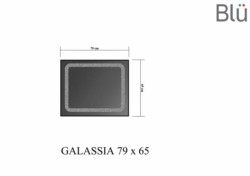 Veidrodis Blu GALASSIA su LED apšvietimu, 790