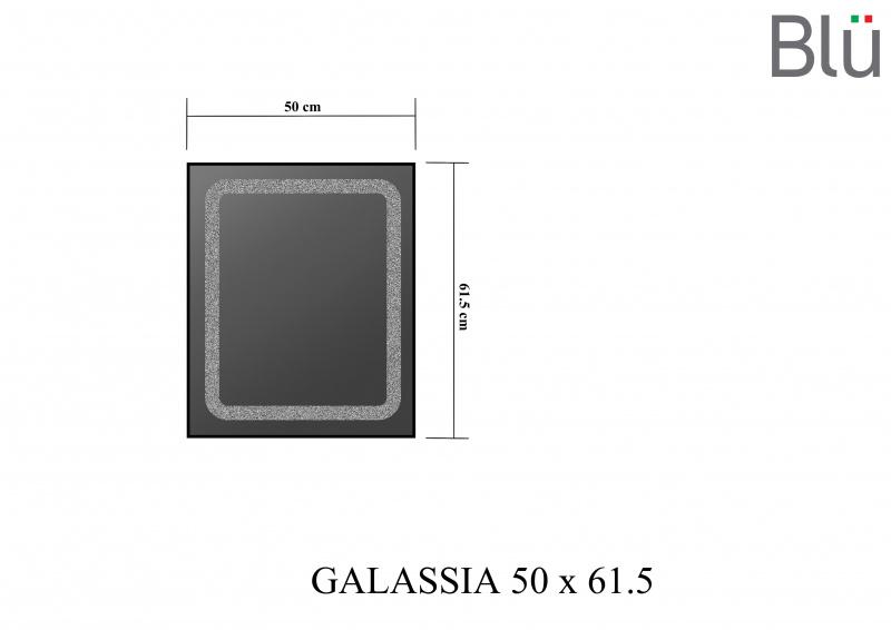 Veidrodis Blu GALASSIA su LED apšvietimu, 500