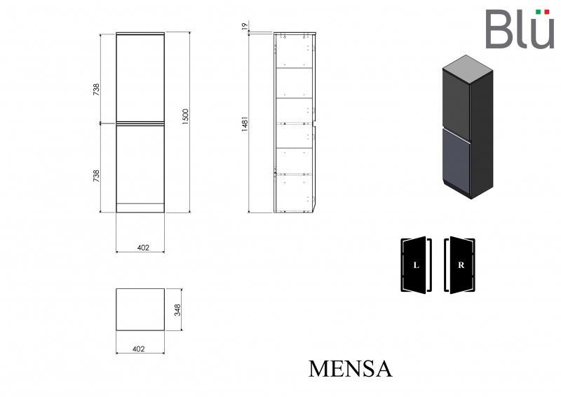 Ūkinė spintelė Blu MENSA 402