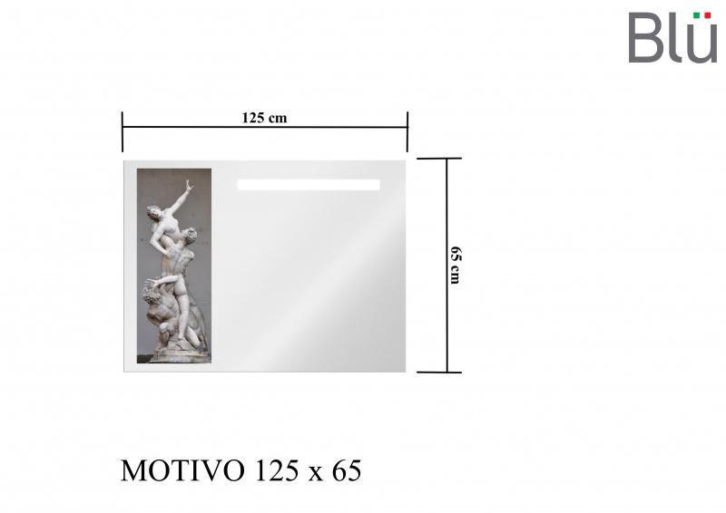 Veidrodis Blu MOTIVO su LED apšvietimu 1250