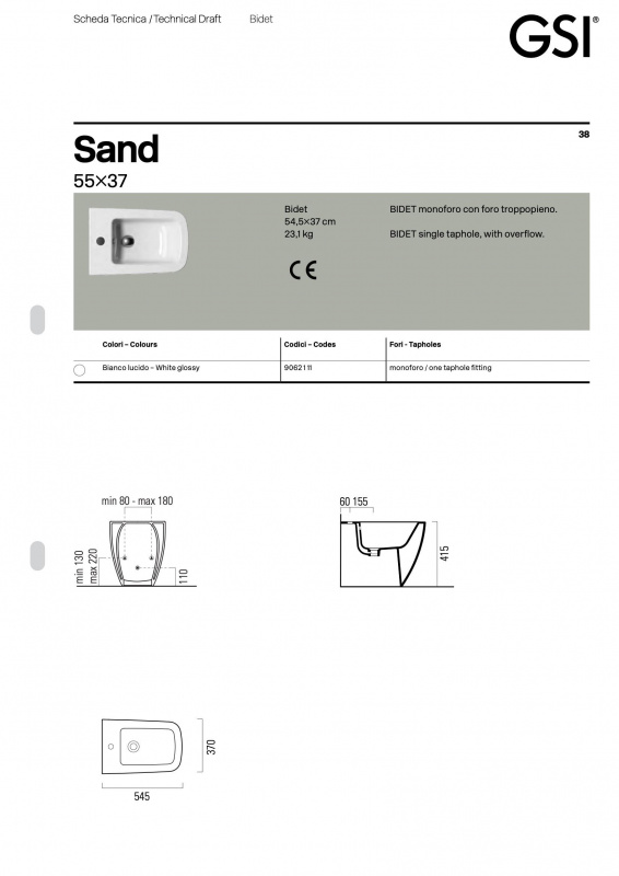 Pastatomas bide Sand GSI