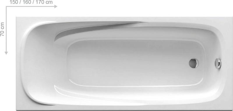 Stačiakampė akrilinė vonia Ravak Vanda II