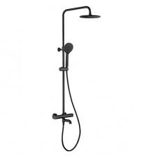Juoda virštinkinė dušo sistema Omnires