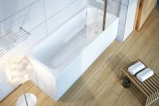 Прямоугольная акриловая ванна Ravak Chrome