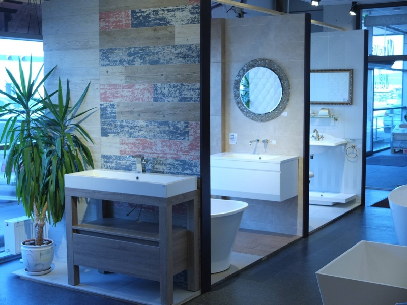 Напольная мебель для ванной комнаты Devo Ambiente с умывальником из каменной массы
