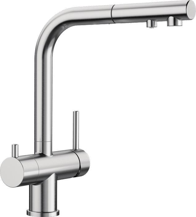 Virtuvinis maišytuvas su geriamojo vandens funkcija Blanco Fontas-S II, su ištraukiama žarnele