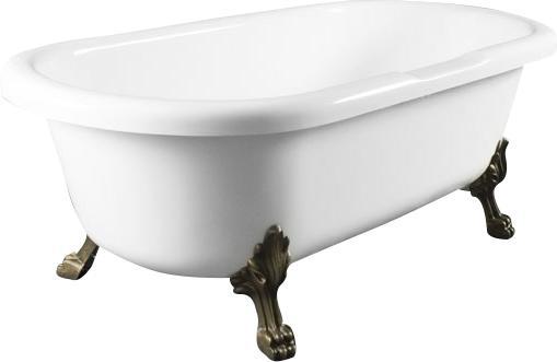 Akmens masės retro vonia Blu CORONA Black/White 1750