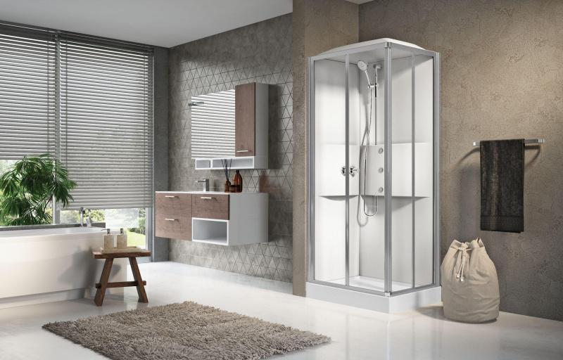 Masažinė dušo kabina Novellini Media 2.0, stačiakampė