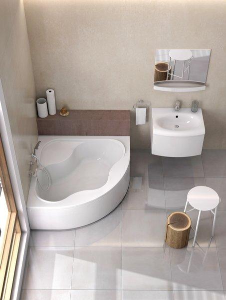 Kampinė akrilinė vonia Ravak Gentiana