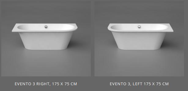 Akmens masės vonia EVENTO 3 VISPOOL