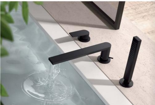 Maišytuvas voniai iš vonios krašto Tres Project, juodas