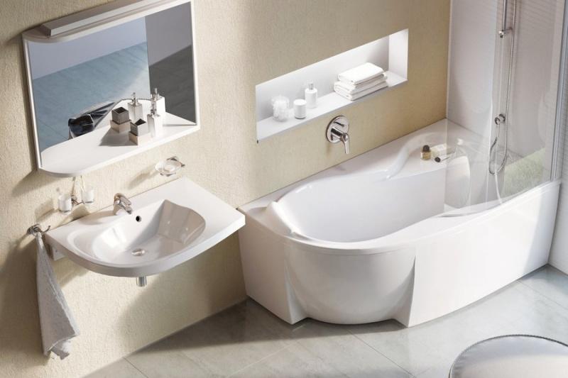 Asimentrinė akrilinė vonia Ravak Rosa 95