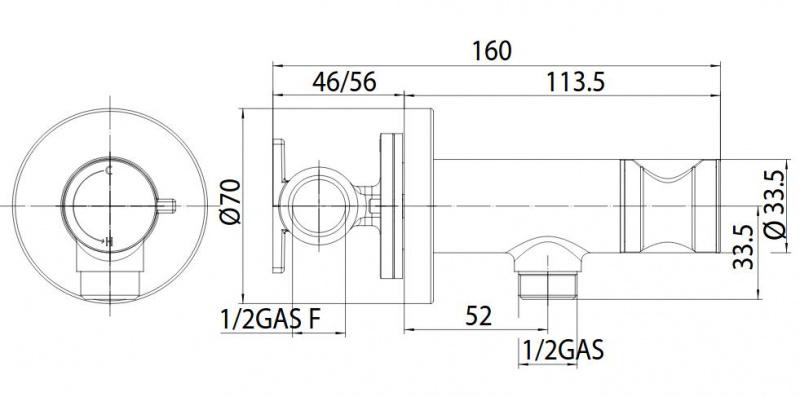 Progresyvinis bide maišytuvas su dušeliu Bossini E37 - PALOMA-BRASS PROGRESSIVE M (metalinė galvutė)