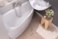Asimentrinė akrilinė vonia Ravak Avocado