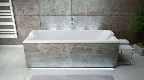 Stačiakampė akrilinė vonia Besco QUADRO