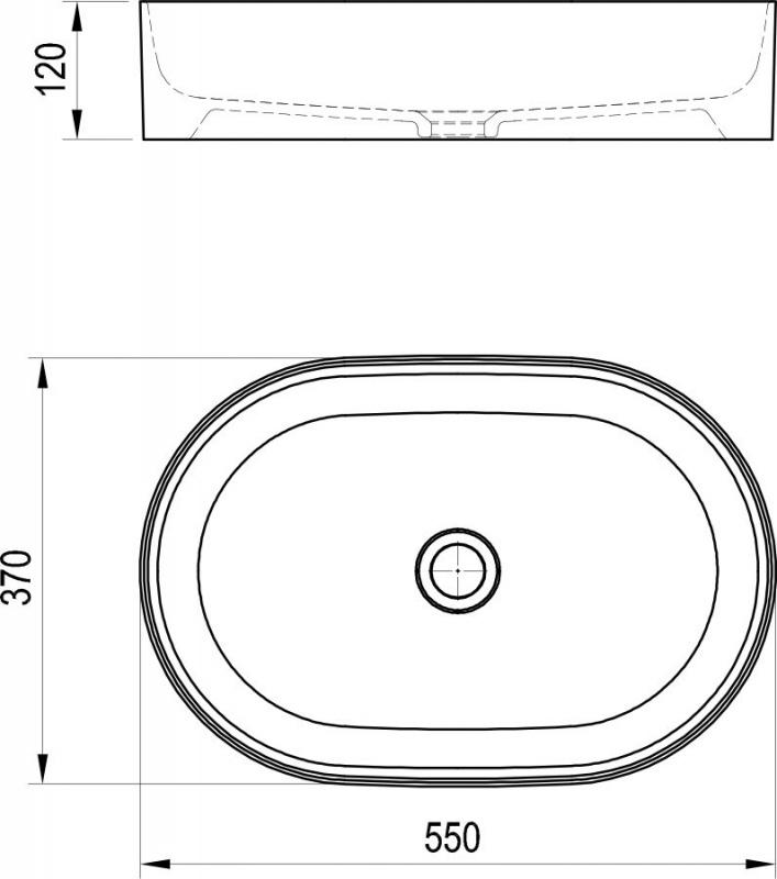 Keramikinis praustuvas Ravak Ceramic Slim O 55