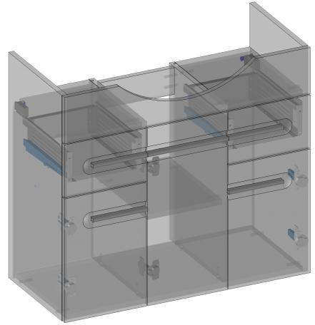 Напольный шкаф с умывальником Devo Swing