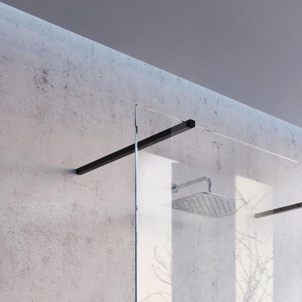 Dušo sienelė Ravak Walk-In model Wall juodu profiliu