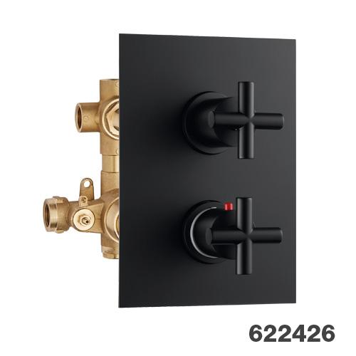 Potinkinis 3-jų eigų termostatinis maišytuvas dušui Palazzani Formula Multi Color