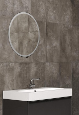 Vonios kambario veidrodis Inn Miior juodos spalvos (atitraukiamas)