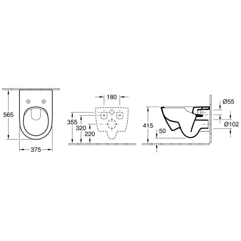 Комплект подвесной унитаз Subway 2.0 Soft Slim Close крышка и Grohe 5in1 инсталляция