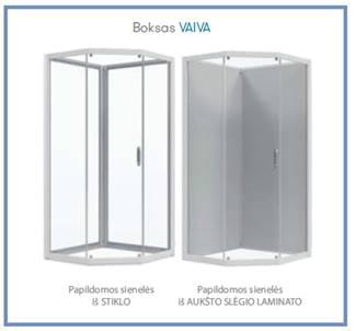 Ketursienė dušo kabina Baltijos Brasta VAIVA  900x900
