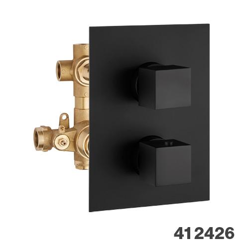 Potinkinis 3-jų eigų termostatinis maišytuvas dušui Palazzani Qadra Color