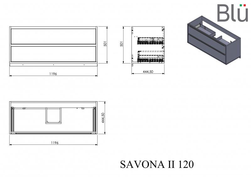 Spintelė su praustuvu Blu SAVONA II