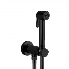 Progresyvinis juodas bide maišytuvas su dušeliu Bossini E37 - PALOMA-BRASS PROGRESSIVE M (metalinė galvutė)